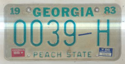 georgia license plates for sale. Black Bedroom Furniture Sets. Home Design Ideas
