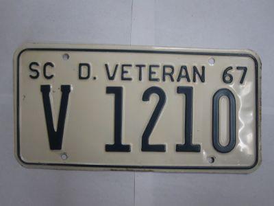 Veteran license plates for sale