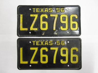 Texas license plates for sale